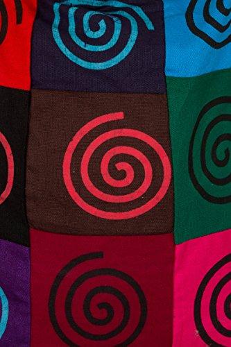 ThaiUK, Borsa a spalla donna multicolore Om large Spiral