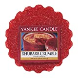 Yankee Candle Bougie parfumée Rhubarbe Crumble Tartelettes en cire, rouge