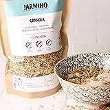 Protein Müsli aus BIO Müsli Granola von JARMINO | 400g Crunchy Müsli | Feinstes Fitness Müsli für den Morgen | Knusper Müsli ohne Weizengluten | Eiweiss Müsli