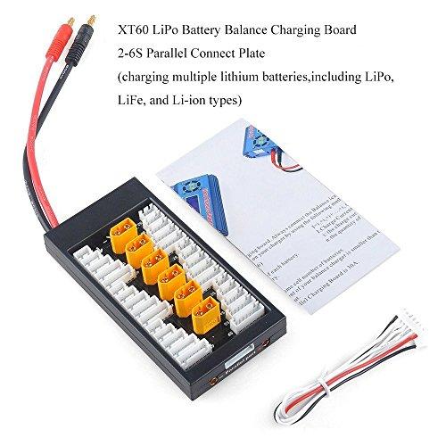 Crazepony-UK Lipo Ladegerät Charger Battery Balance Charging Board XT60 Connectors 2-6S Lipo Akku Parallel Connect Plate by - Ladegerät Uk