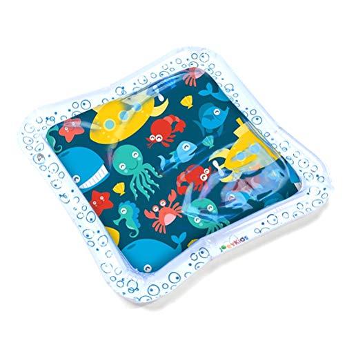 EisEyen - Cojín Hinchable para colchón de Agua, para bebé y niño, Color Azul y Blanco