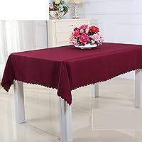 Mantel simple de la familia moderna,mantel vintage de mesa,lino del algodón de la tela/mantel-paño lavable.varios colores.rojo-rojo 120x180cm(47x71inch)