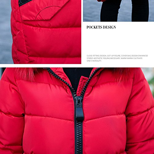 Femme Manteau Doudoune Parka Hiver Chaud Rembourrée Manches Longues Veste Jacket Coat Manteaux Long Meedot Lotus color