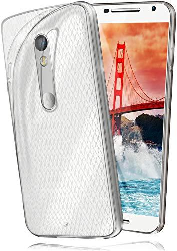 moex® Ultra-Clear Case [Vollständig Transparent] passend für Motorola Moto X Play | rutschfest & extrem dünn - Fast unsichtbar, Klar