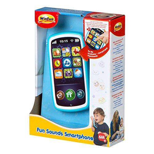 Imagen para winfun- Teléfono móvil Musical para bebés, Color Azul (ColorBaby 44523)