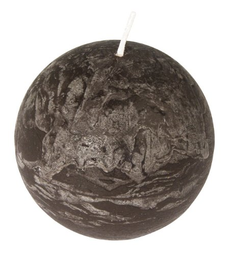 Rayher-31454546-Bola Vela: Frost aspecto, 8cm de diámetro), color marrón