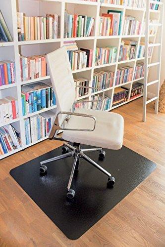 clear style` Stuhlmatte Rechteckig soft Schwarz 150 x 120 cm