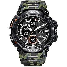 Beydodo Reloj de Camuflaje Reloj Militar Reloj Multifunción Reloj Hombre Relojes Electronicos Reloj Deportivo Reloj Deporte