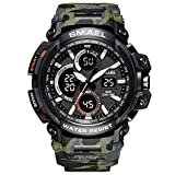 Beydodo Reloj de Camuflaje Reloj Militar Reloj Multifunción Reloj Hombre Relojes Electronicos Reloj Deportivo Reloj Deporte al Aire Libre Verde del Ejército