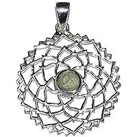 Moldavit Sterling Silber Anhänger Krone Chakra Design preisvergleich bei billige-tabletten.eu