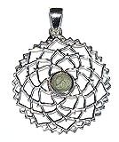 Moldavite argento Sterling ciondolo chakra della corona design