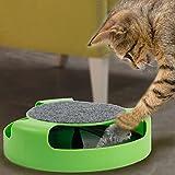 Yosoo Catch el ratón movimiento Cat Toy, Scratch Pad con rotación Toy Mouse, Pet Cat atrapar el ratón, movimiento de juguete de felpa, gato movimiento giratorio Chase Juguete