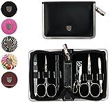 Drei Schwerter | Exklusives 6-teiliges Maniküre - Pediküre - Nagelpflege-Set / Etui | Qualität - Made in Solingen | VERSCHIEDENE DESIGNS (521705)