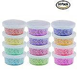 Nicebuty, confezione 10contenitori per palline di schiuma Slime, con coperchio, adatti per 20g di Slime, contenitore Slime, kit Slime