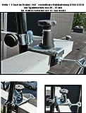 NEU - 5 fach im Radius verstellbare und 360 ° drehbare Multihalterung - STGVC 5530 zur Befestigungen an runden oder eckigen Elementen mit einem Ø bis 55-60 mm - MIT GUMMISCHUTZKAPPEN zur kratzfreien BEFESTIGUNG - Made in Germany - INNOVATIONEN MADE in GERMANY - HOLLY PRODUKTE STABIELO ® - holly-sunshade ®