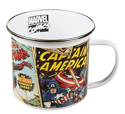 Retro Marvel Comics Emaille Boxed Mug