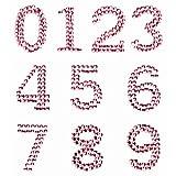 GLOREX P und D Zahlen 25 mm 0-9 Selbstklebend, Plastik, Rosa, 14.5 x 8.6 x 0.2 cm