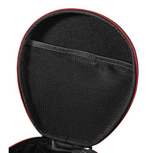 Thomson On-Ear/Over-Ear Kopfhörer Tasche (Hardcase zur Aufbewahrung, anpassbar an verschiedene Kopfbügel-Breiten, Travel Case mit Reißverschluss und Zubehör-Netzfach, Headphone Box) schwarz - 4