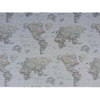World map print vintage brown 100 cotton designer curtains bedding world map print vintage brown 100 cotton designer curtains bedding cushion covers gumiabroncs Images
