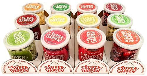 Supergarden Value Pack: 12 Tassen gefriergetrocknete Beeren und Gemüse