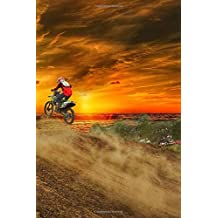 Motocross Notebook: 150 lined pages, glossy softcover, 6 x 9