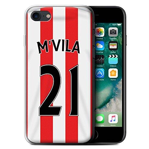 Offiziell Sunderland AFC Hülle / Gel TPU Case für Apple iPhone 7 / Matthews Muster / SAFC Trikot Home 15/16 Kollektion M'Vila