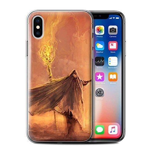 Offiziell Chris Cold Hülle / Gel TPU Case für Apple iPhone X/10 / Ghouls der Furcht Muster / Dämonisches Tier Kollektion Kriegsheld/Warlock