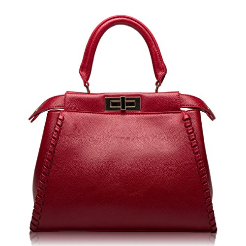 WU Zhi Lady In Pelle Mano Borsa A Tracolla Red