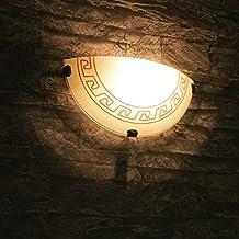 Edle Wandleuchte Mediterraner Stil Wandlampe Griechisch Glasleuchte Lampe