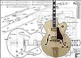 Plan de guitare jazz électrique Gibson L5 Archtop - Imprimé en taille réelle