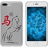 PhoneNatic Case für Apple iPhone 8 Plus Silikon-Hülle Tierkreis Chinesisch M7 Case iPhone 8 Plus Tasche + 2 Schutzfolien
