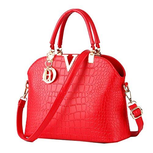 Yy.f Neues Paket Der Trend Der Wilden Handtaschen Krokodilmuster Shell Beutels Damen Schulterkurierbeutel Mehrfarbige Beutel Pink