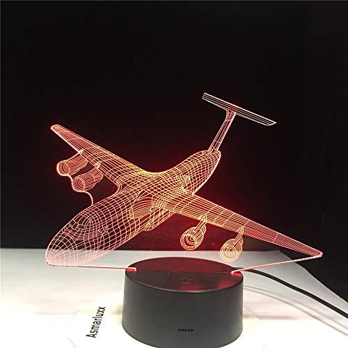 3d illusion flugzeug usb led nachtlicht touch schalter 7 farbwechsel innenlicht flugzeug schreibtisch tischlampe wohnkultur ## 4