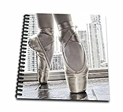 3dRose db_219708_1 Ballerina in Pointe Shoes with Buildings Behind Drawing Book, 8 by 8