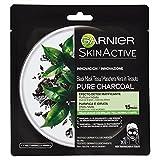 Garnier Skincare Maschera Viso Idratante con Carbone Vegetale e Acido Ialuronico, per Pelli Normali o Miste - 50 ml