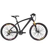 Beiou CB024 Hardtail-Mountainbike, mit Shimano M610 Deore 30-Gang-Kurbelgarnitur, Toray T800-Karbonfaser, ultraleichter Rahmen, 10,65 kg, 26-Zoll-Räder, Damen, matte black, 19-Inch