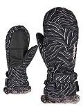 Ziener Mädchen LED MITTEN GIRLS glove junior Ski-handschuhe / Wintersport |warm, atmungsaktiv, , schwarz (zebra print), 6