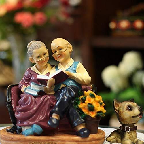 WENYAO Opa, Oma, Schaukelstuhl, Teetrinken, alte Dame, Gedenken an die Ehe, alte Dame und Schwiegertochter, Geschenke, Valentinstag, europäischer Stil, Lesung im Gesetz