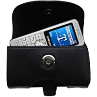 Custodia in pelle nera orizzontale per Samsung SGH-T509 con passante per cintura integrato