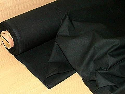 5metres Noir ignifuge Tissu calicot–Ameublement Rideau