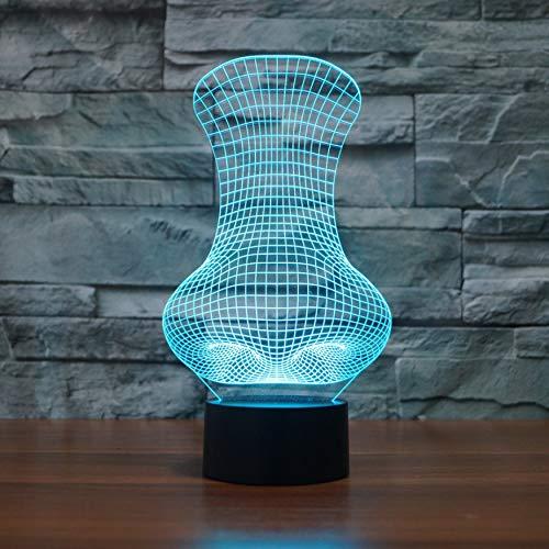 Große Nase Form Led Tischlampe 7 Farbwechsel 3D Nachtlicht Neuheit Nacht Baby Sleeper Lighting Decor Für Kinder Geschenke