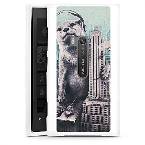 DeinDesign Nokia Lumia 920 Hülle Silikon Case Schutz Cover Otter Stadt City (920 Nokia Lumia Case Otter)