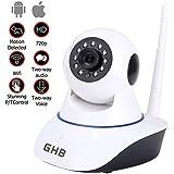 GHB IP Cámara de Vigilancia HD Vigilabebés Cámara Seguridad Interior P2P WiFi 1280x720 Compatible Movil iOS Android Tablet PC Computador