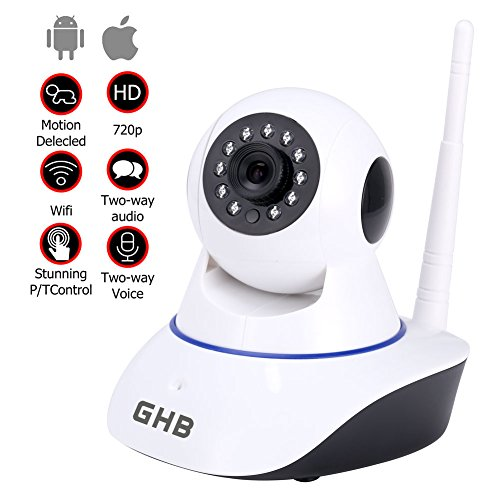 GHB IP CAMARA DE VIGILANCIA HD VIGILABEBES CAMARA SEGURIDAD INTERIOR P2P WIFI 1280X720 COMPATIBLE MOVIL IOS ANDROID TABLET PC COMPUTADOR