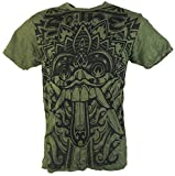 Guru-Shop Sure T-Shirt Dragon, Herren, Olive, Baumwolle, Size:L, Bedrucktes Shirt Alternative Bekleidung