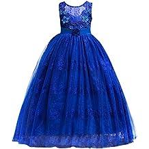 IBTOM CASTLE Princesa Vestido de Niña de Flores para la Boda Vestidos de Dama De Honor