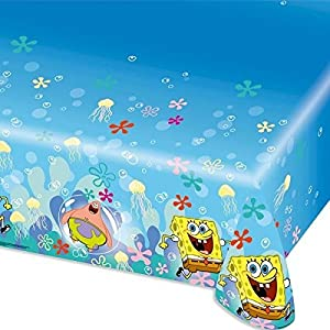 Amscan Internacional 1.2 x 1.8 m Mantel Bob Esponja de plástico