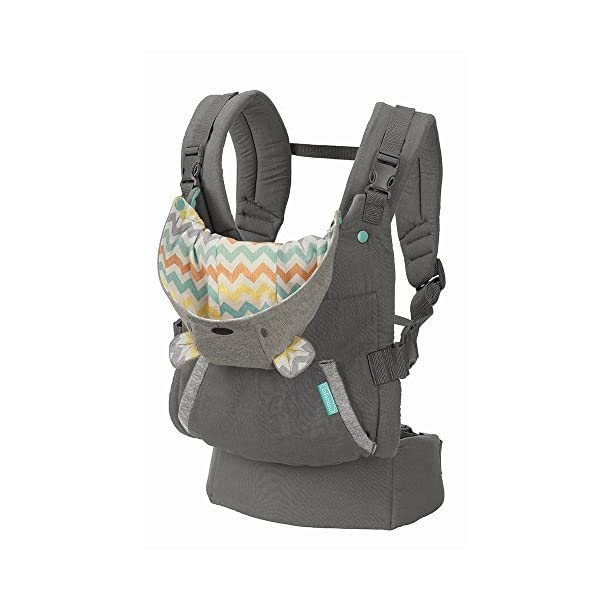 Infantino Cuddle Up Ergonomic Hoodie Carrier, Grey Infantino Fully safety tested Carries children from 12-40lbs (5.4 - 18.1 kgs) 1