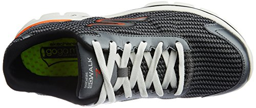 Skechers Go Walk 3 Fit Knit - Chaussures Multisport Outdoor homme Gris (Charcoal Ccor)