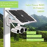 Festnight Wanscam 1080P Cámara Solar IP 4G Cámara inalámbrica WiFi Cámara IP IR-Cut Visión Nocturna Impermeable al Aire Libre Energía Solar y batería 3G gsm CCTV Cámara de Video Vigilancia